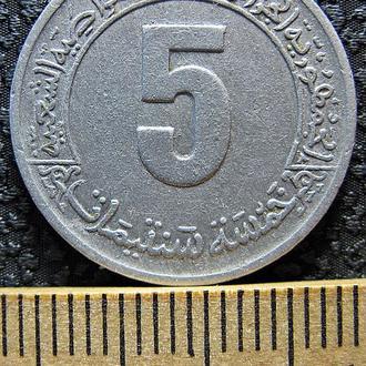 Алжир 5 сантимов 1973 г.