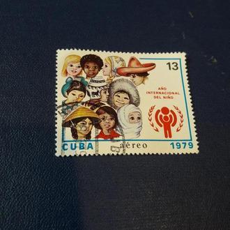Марка Куба дружба дети мир 1979