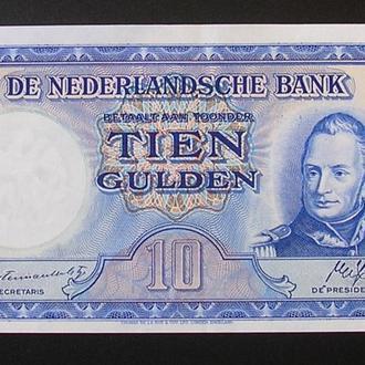 Нидерланды 10 гульден 1945 Голландия AU-UNC