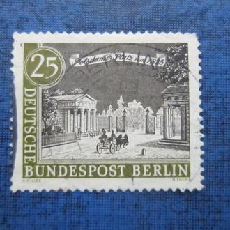 Марка Германия Западный Берлин 1962 Виды старого Берлина 1825 Потсдамские ворота 25 пфеннигов гаш
