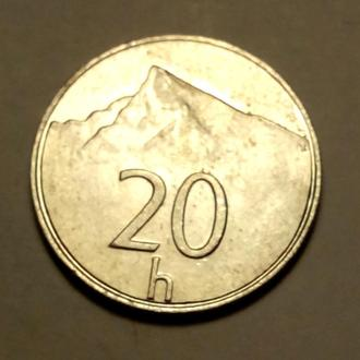 20 геллеров 1998 года Словакия !!! а2