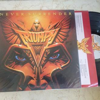 Triumph  –  Never Surrender  ( USA ) LP