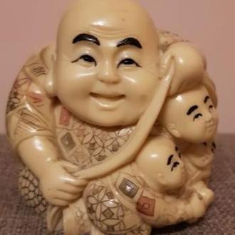 Окимоно Хотей с детьми
