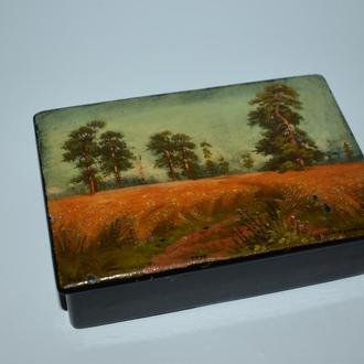 красивая шкатулка пейзаж Холуй автор Дмитриева винтаж