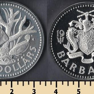 Барбадос 2 доллара 1973