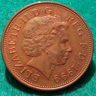 Великобритания 2 пенса 1999