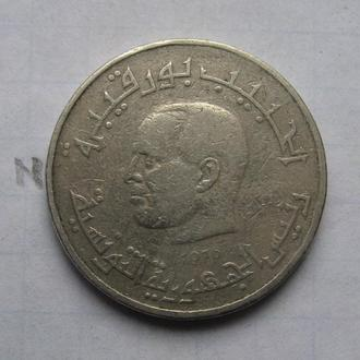 ТУНИС 1/2 динара 1976 года.