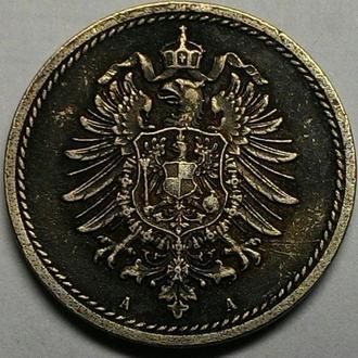 Германия 5 пфеннигов 1875 А год ОТЛИЧНОЕ СОСТОЯНИЕ!!! РЕДКИЙ СОХРАН!!!!!!