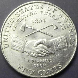 5 центів 2004 P США Придбання Луїзіани
