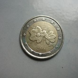 Финляндия 2 евро 2003 флора