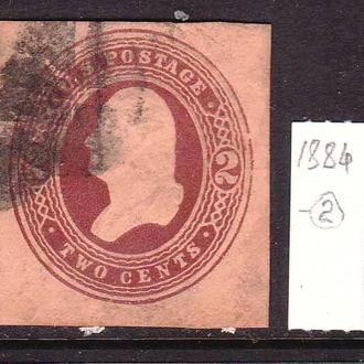 USA / США  --   1884 г - овал