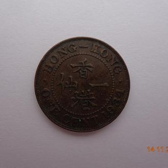 Британский Гонконг 1 цент 1934 (малый) George V отличное состояние редкий