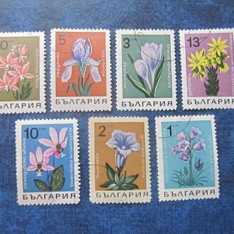 7 марок Болгария 1968 флора цветы