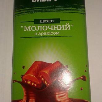 Этикетка десерт  молочный шоколад с орехами Украина