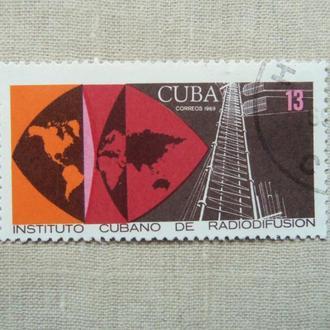 марки- с 1 гр Куба--(А3) - гашеные 1969 г