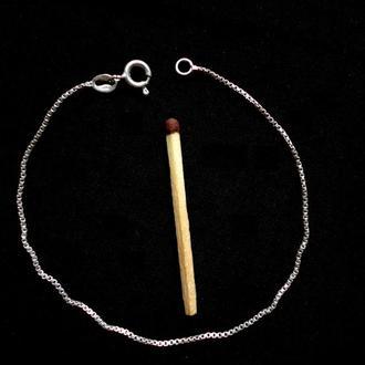 Браслет изящная цепочка, серебро 925, длина 19,5 см, вес 1,25 грамм.