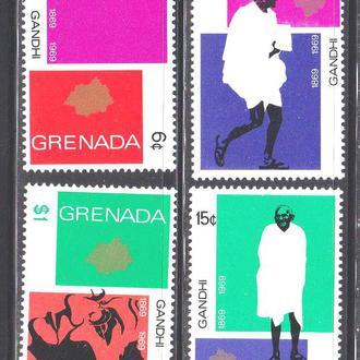 GB . Гренада 1969 г MNH  - Ганди