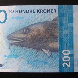 Норвегия 200 крон 2016 Norway UNC
