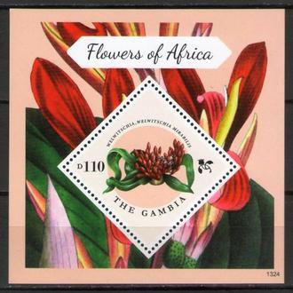 Гамбия ** Флора Цветы Африки БЛ MNH