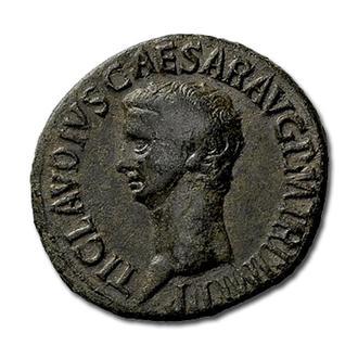 "(А)3565 - Клавдий (41—54 г.) Æ Асс ""Свобода"""