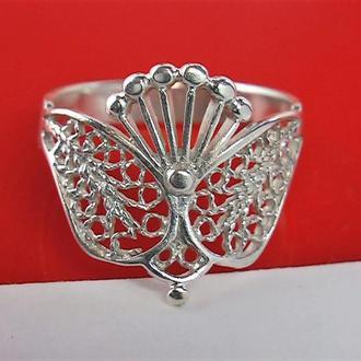 Кольцо перстень серебро 916 проба 2.74 гр 17 размер СССР