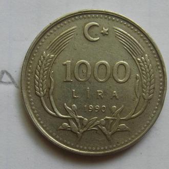 Турция, 1000 лир 1990 года.