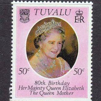 GB Тувалу  1980 г MNH -