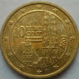 Австрия 10 евроцент 2002