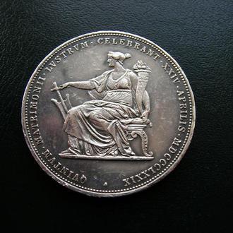 Австро-Венгрия, Франц Йосиф І, 2 гульдена юбилейные 1879 г. UNC!