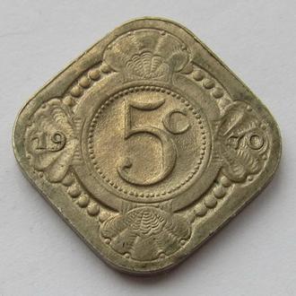 Нидерландские Антильские острова 5 центов 1970 (KM#6)