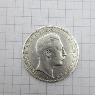 Германия 3 марки 1911 г серебро