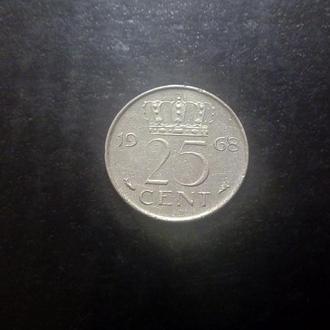 25 центов (1968) Нидерланды.