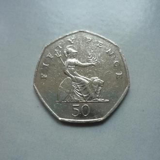 Великобритания 50 пенсов 1998
