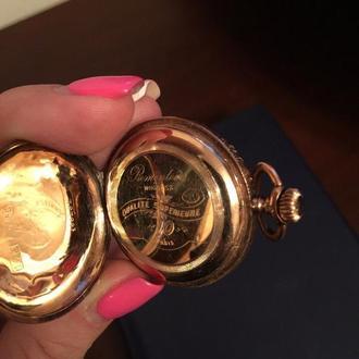 Золотые Женские карманные часы На ходу