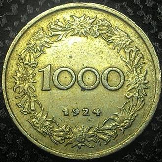 АВСТРИЯ 1000 крон 1924 год