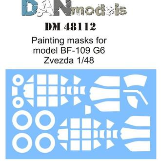 Danmodel 48112 -маска для модели самолета BF-109 G6 ( Звезда 4816 )