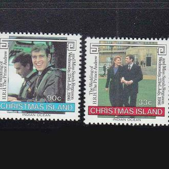 GB  о-в Рождества 1986 г MNH  -