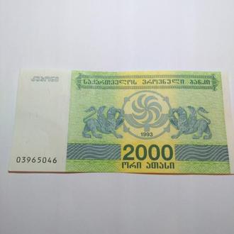 2 000 Лари 1994 Грузия, пресс, unc