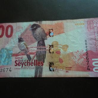 Сейшельские острова (Сейшелы). 2016г. 100 рупий.