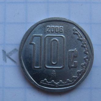 МЕКСИКА, 10 сентаво 2006 года.