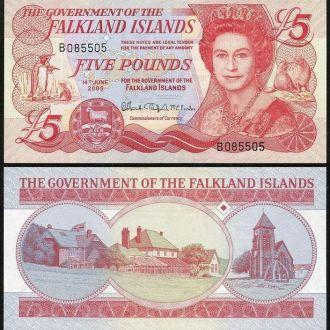 Falkland Is/ Фолклендские о-ва - 5 Pounds 2005 UNC