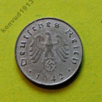 Германия 10 рейхспфеннигов A 1942! Еще 100 лотов!