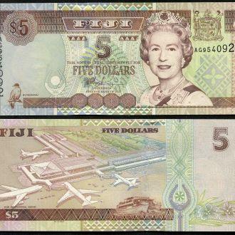 Fiji / Фиджи - 5 Dollars 2002 aUNC - Миралот