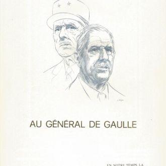 Франция Номерной буклет Де Голль См. сноску