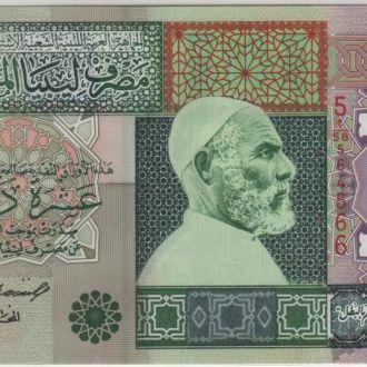 Ливия 10 динаров  5 выпуск 2002 г. в UNC