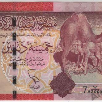 Ливия 5 динаров  7А выпуск 2011 г. в UNC