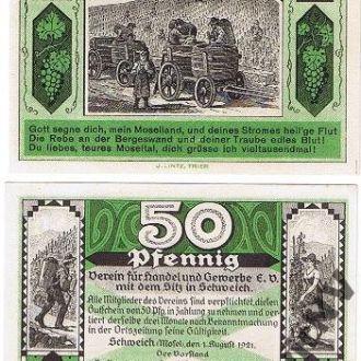 Германия Нотгельд - 50 Pfennig 1921 aUNC Javir