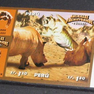 Перу 2004 Фауна доисторическая Динозавры 2м.б/з