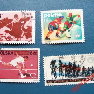 марки- Польша от 1гр --(к7)-4шт