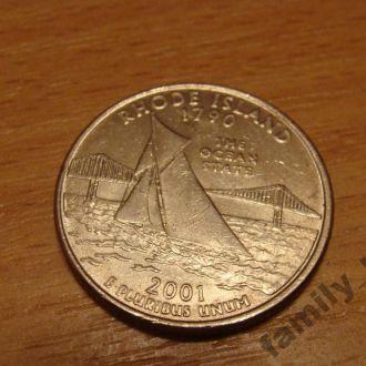 25 центов США  Род АЙЛЕНД
